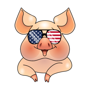 4. Juli USA Schwein