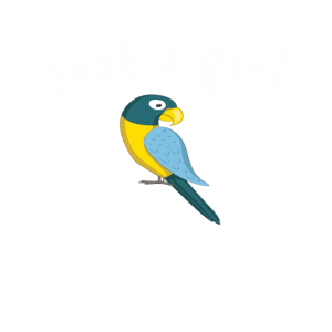 Süß Nur ein Mädchen liebt Papageien Design
