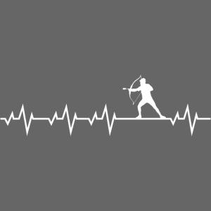Arrowtag Archery Tag Heartbeat Bogenschießen Shirt