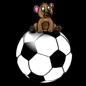 Süßer Baby Bär auf Fußball/ Soccer Bear