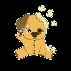 Plüschhund Kopfschuss
