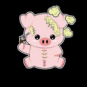Plüschschwein Kopfschuss