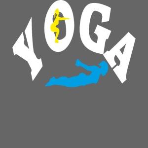 Yoga Schriftzug mit Posen Körperspannung Geschenk