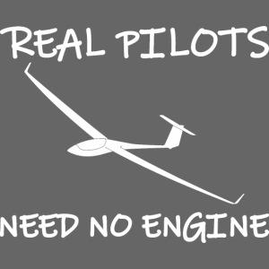 Segelflieger Motor lustiger Spruch Geschenkidee