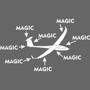 Magie Segelflugzeug Segelflieger gleiten Geschenk