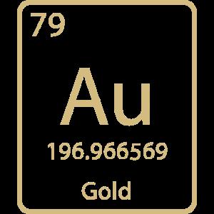 Gold Aurum chemisches Element / Periodensystem