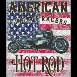 Hot Rod,Auto,Hot Rod fahren,Hot Road,Flagge