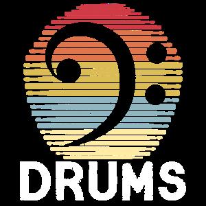 Drums Retro Schlagzeuge Vintage Drumsticks Drummer