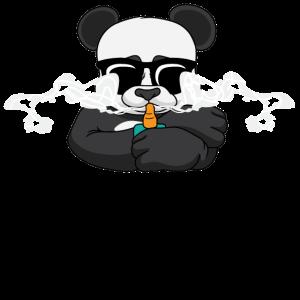 Panda Raucher rauchen Cooles Geschenk