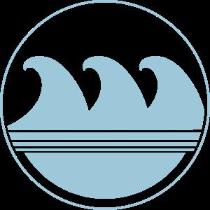 Wellen Motiv - BLUE