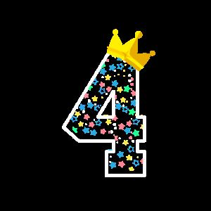 4. Geburtstag Vier Vierter Kindergeburtstag Krone