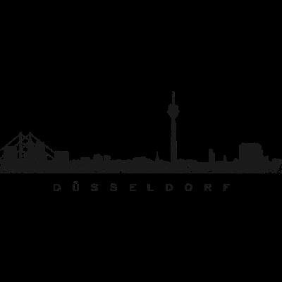 Düsseldorf Skyline Vintage Schwarz - Die Skyline der Stadt Düsseldorf am Rhein - zeichnung,städte,style,stadtansicht,stadt düsseldorf,stadt,panorama,kunst,illustration,graffity,düsseldorfpanorama,düsseldorfkunst,düsseldorferin,düsseldorfer,düsseldorfbilder,düsseldorfbild,düsseldorf am rhein,düsseldorf,duesseldorf,ddorf,bilder,bild,ansicht