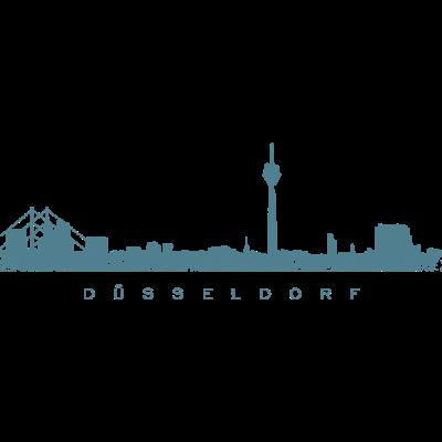 Düsseldorf Skyline Vintage Blau - Die Skyline der Stadt Düsseldorf am Rhein - zeichnung,städte,style,stadtansicht,stadt düsseldorf,stadt,panorama,kunst,illustration,graffity,düsseldorfpanorama,düsseldorfkunst,düsseldorferin,düsseldorfer,düsseldorfbilder,düsseldorfbild,düsseldorf am rhein,düsseldorf,duesseldorf,ddorf,bilder,bild,ansicht