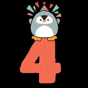 Pinguin 4. Geburtstag Mädchen