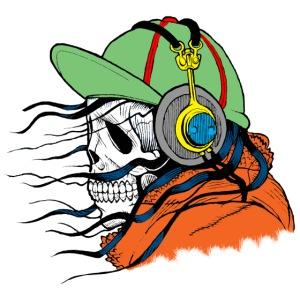 tête de mort avec casquette