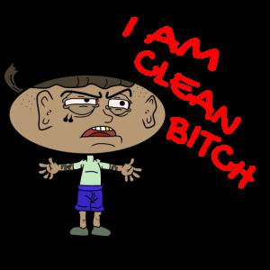 Ich bin clean Cartoon Comicstyle Comicfigur