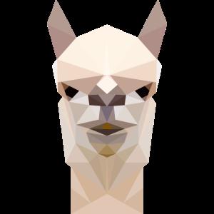 Lama Alpaka Gesicht- polygonal 3d Geschenk