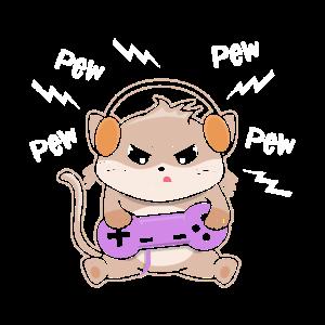 Gaming Kitty Cat Gamer