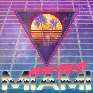 Neon Palm Miami Swoosh and Grid