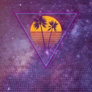 Retro Sun with Palms