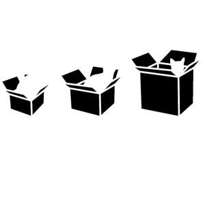 One size fits all - Katze in Karton