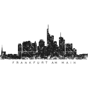 Frankfurt am Main Skyline (Vintage/Schwarz)