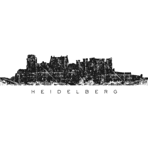 Heidelberger Schloss (Vintage/Schwarz) Heidelberg