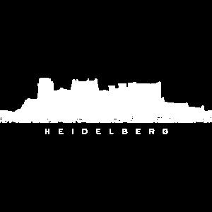 Heidelberger Schloss (Vintage/Weiß) Heidelberg