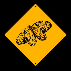 Gefahr Schmetterling
