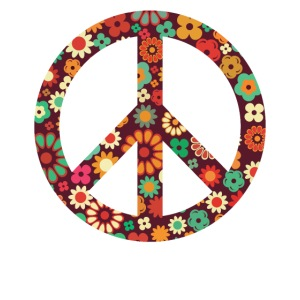 Flower Power Peace Hippie Love 60er 70er Jahre
