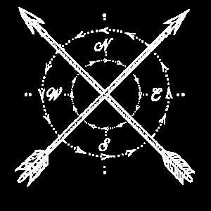 Kompass Pfeile Himmelrichtung Geometrie weiss