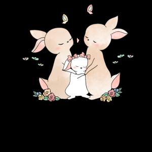 Hase Baby Häschen Süßes Kinder Familien Design
