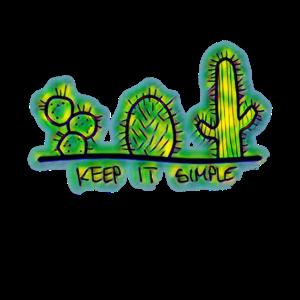 Keep it simple Kakteen grün