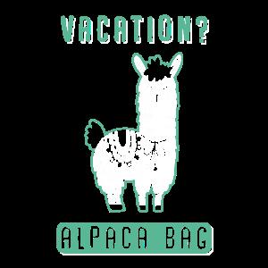 Vacation Alpaca Bag - Ferien Alpaca
