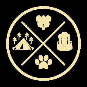 Camping - Hund - Rucksack - Pfote