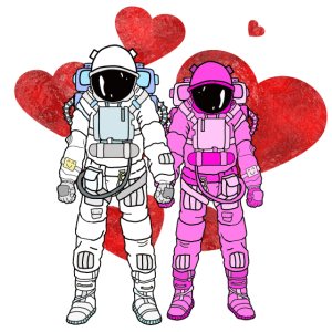 Astronauten Liebe Paar