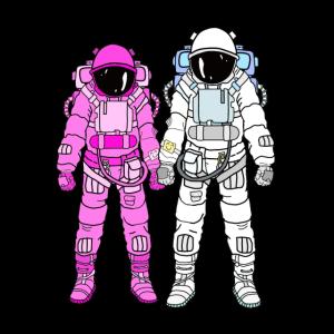 Astronauten Paar