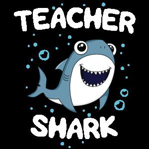 Lehrer-Haifisch-T-Shirt, das Geschenk zurück zu Schule unterrichtet