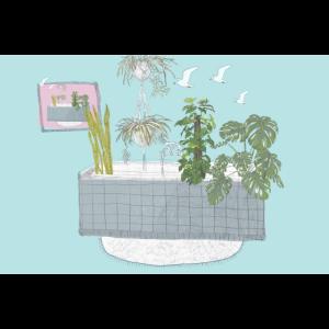 Elisa Kuzio Illustration Badezimmer