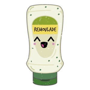 Remoulade mit Kawaii Illustration