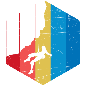 Bergsteigen Klettern in den Bergen - Design