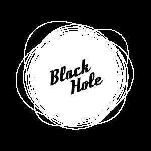 Black hole, black, withe -Schwarzes Loch, schwarz
