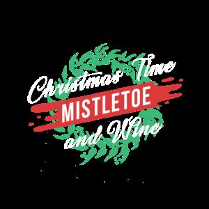Weihnachtszeit Mistel Und Wein