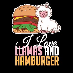 Frauen lieben Hamburger Lama Alpaka Fast Food