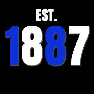 Est. 1887 Blau Weiss Fußball Club (Geschenkidee)