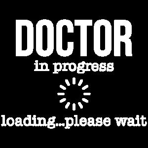 Doctor in progress loading please wait Geschenk