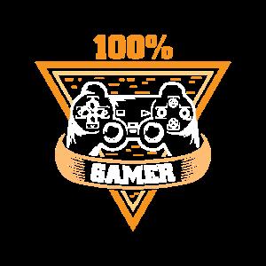 100% Gamer in orange