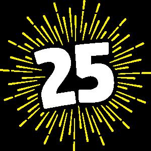25 | GEBURTSTAGSSHIRT | FEUERWERK