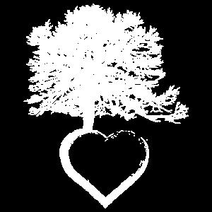 Ich liebe Bäume. Rettet den Regenwald; unser Herz!
