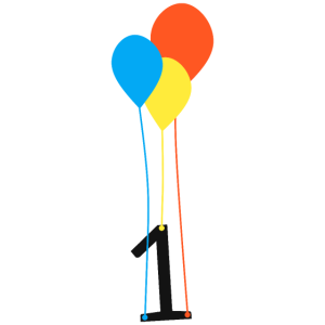 Baby 1 Jahr Geburtstag Ballon